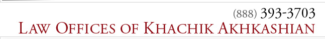 Law Offices of Khachik Akhkashian 888 393-3703